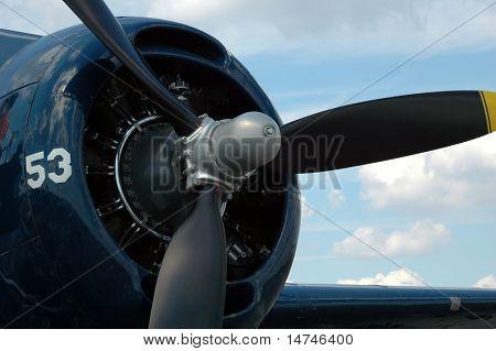 Propeller and engine of Grumman Avenger Bomber