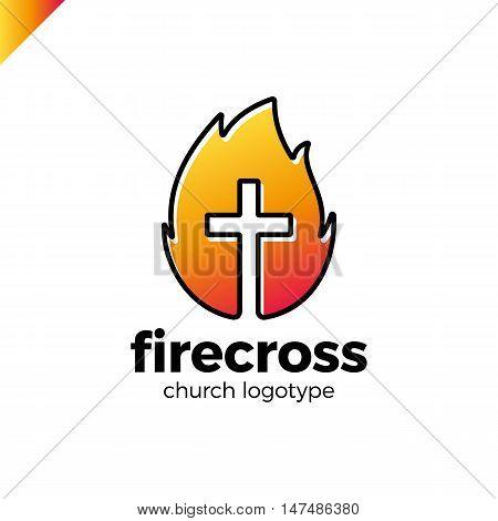 Modern Christianity Cross Fire Vector En Foto Bigstock