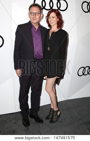 LOS ANGELES - SEP 15:  Michael Emerson, Pauley Perrette at the Audi Celebrates The 68th Emmys at the Catch on September 15, 2016 in West Hollywood, CA
