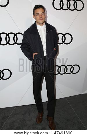 LOS ANGELES - SEP 15:  Rami Malek at the Audi Celebrates The 68th Emmys at the Catch on September 15, 2016 in West Hollywood, CA