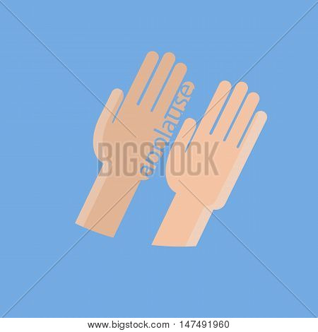 two hands applauding. Style image in flat style
