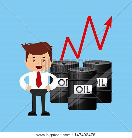 oil prices business icon vector illustration, eps10