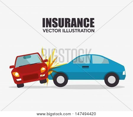 icon insurance car crash security design vector illustration eps 10