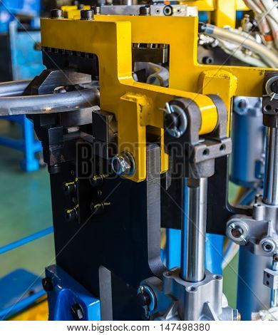Jigs catch automotive part the welding in cars production factory
