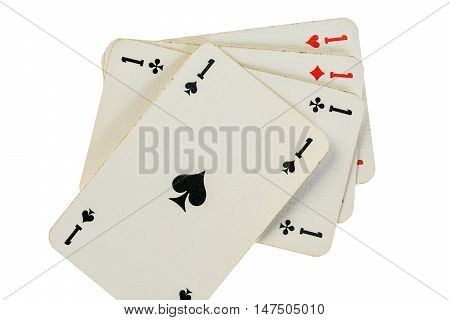 four gaming cards against white four aces