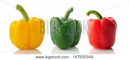 Bell Peppers in Yellow,Green and Red Color