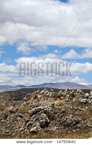 Rocky landscape in the northern Andes of Peru near Cajamarca poster