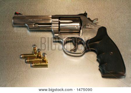 Revolver On Metal