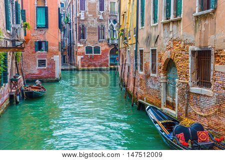 Colorful architecture in Venice city, Italy, Europe