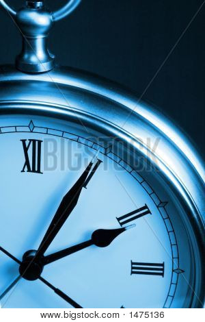 Blue Time Clock