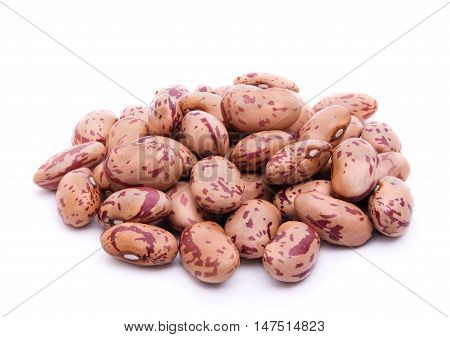 Pile of pinto beans isolated on white with shadow