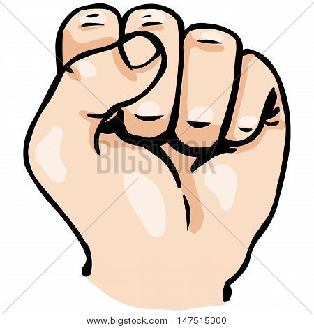 Vector Cartoon Fist
