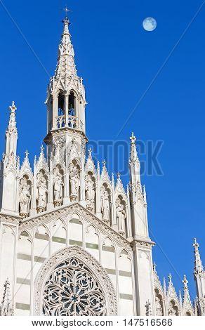 Church of the Sacred Heart of Jesus in Prati (also known as Chiesa del Sacro Cuore del Suffragio) in Rome (Italy). Designed by Giuseppe Gualandi. Build in 1908-1917.