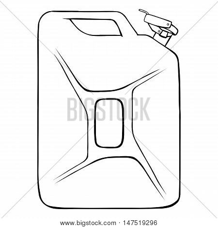 Vector Lineart Single Jerry Can