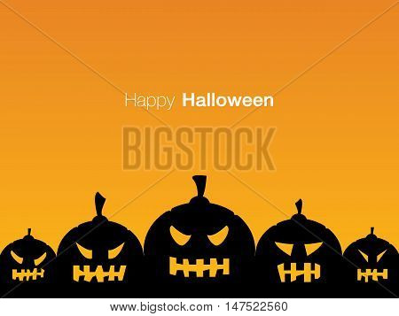Happy Halloween holiday card display design, vector illustration eps10.