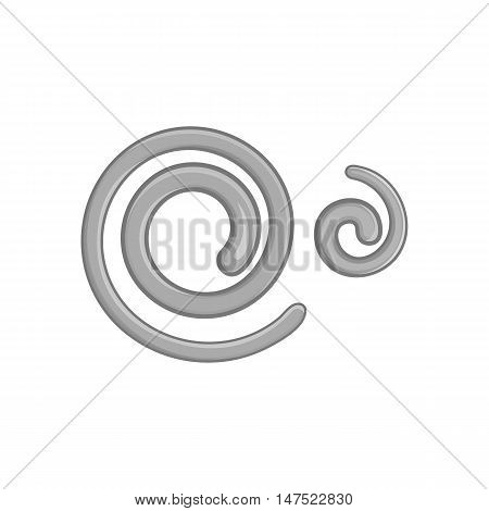 Parasitic nematode worms icon in black monochrome style on a white background vector illustration