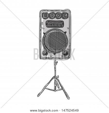 sound  speaker stereo system. draw design. vector illustration