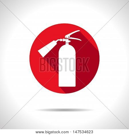 Vector flat fire extinguisher icon. Illustration. Eps10