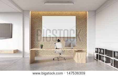 Manager's Office With Poster