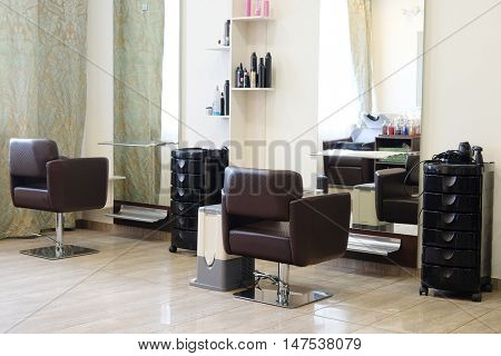 interior of a modern beauty salon