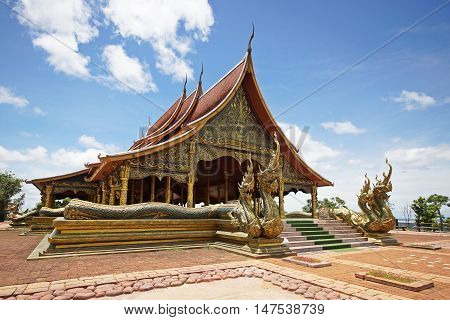 Unseen Thailand. Wat Sirindhorn Phu Praw, temple in Ubonratchathani province, Thailand
