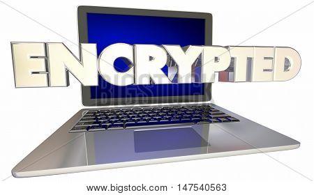Encrypted Security Online Digital Files Acess 3d Illustration