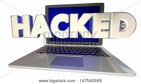 Hacked Online Digital Exploit Security 3d Illustration