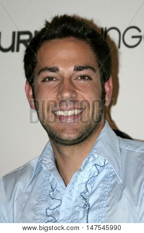Zachary Levi at the Burn Lounge Launch Party held at the Cabana Club in Hollywood, USA on September 10, 2005.