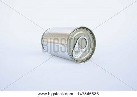 Cans, The pop-top lid cans on white background, Packaging cans Tin can easy open ends for beverage and food packaging Tin containers chemicals.