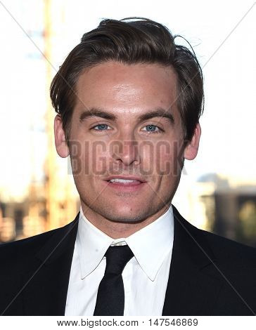 LOS ANGELES - SEP 10:  Kevin Zegers arrives to the Celebration of Dance Gala 2016 on September 10, 2016 in Hollywood, CA