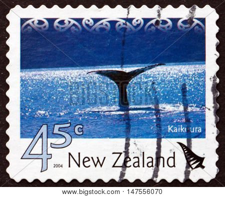 NEW ZEALAND - CIRCA 2004: a stamp printed in New Zealand shows Kaikoura Tourist Attraction circa 2004