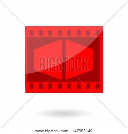 Movie or photo film icon isolated on white background