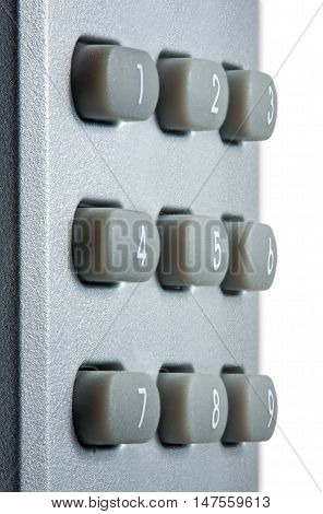 Keyboard With Digital Buttons