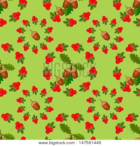Seamless pattern with cranberry red berry food natural organic texture. Drawing with colored pencils. Gift wrapping cranberry paper and other seamless cranberry background leaf green nature vector.