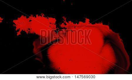 Ink Splatter Over Transparent Background with Alpha Channel. Easy use in motion design 4K