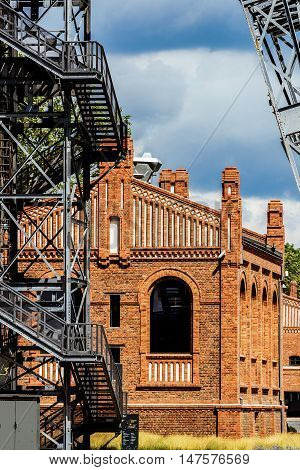 KATOWICE, POLAND - JULY 03, 2016: The former coal mine