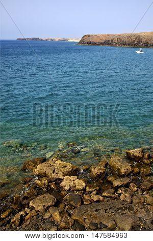 Coast Lanzarote   Spain Musk Pond Beach  Water