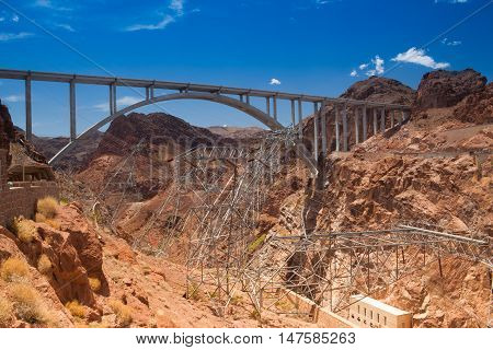 Colorado River Bridge - Bypass for the Hoover Dam Arizona USA