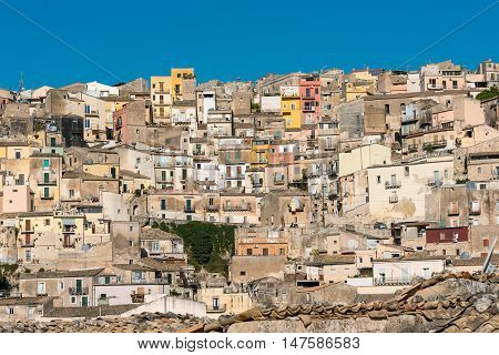 Part of the old barock town of Ragusa Ibla in Sicily, Italy