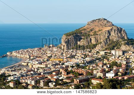 The village of Cefalu in Sicily, Italy