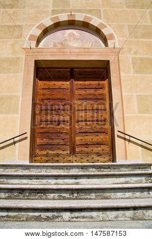 Tradate  Italy   Church    Door   A Mosaic