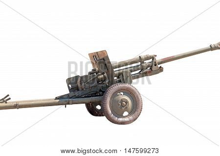the Old Soviet cannon on white background