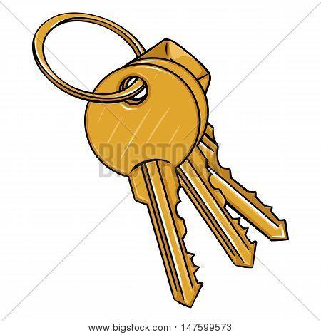 Vector Cartoon Bunch Of Modern Keys