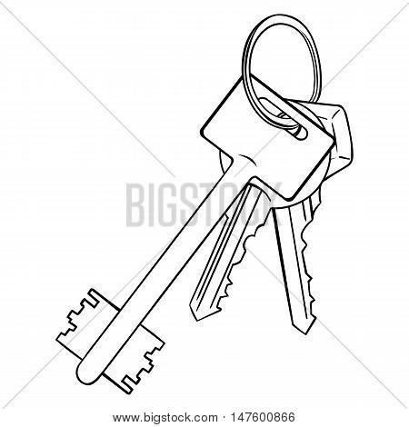 Vector Lineart Bunch Of Modern Keys