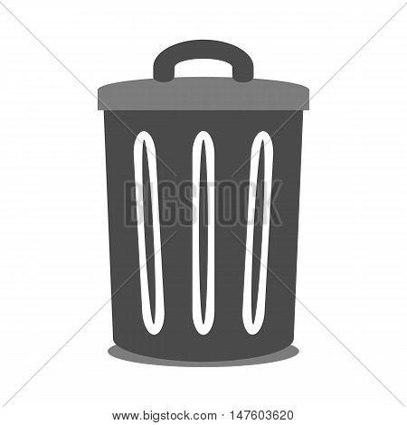 Garbage symbol icon on white background. Vector illustration.