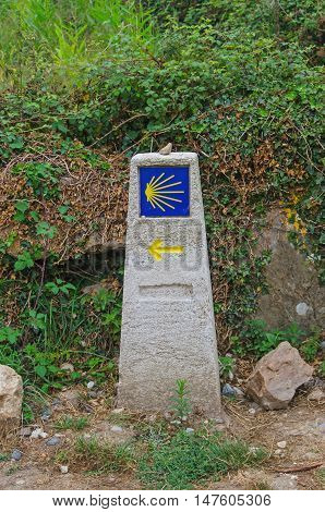 Typical Milestone In Camino De Santiago