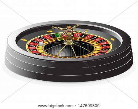 Casino roulette isolated on white. Vector illustration