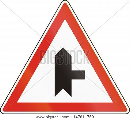 Belgian regulatory road sign - Intersection with priority. poster