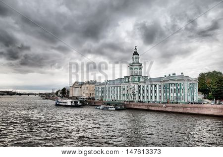 SAINT - PETERSBURG, RUSSIA - SEPTEMBER 17, 2016: Peter the Great Museum of Anthropology and Ethnography (Kunstkamera) on The Neva River