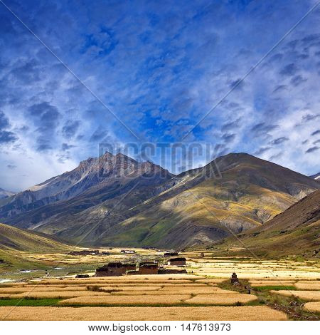 Rural landscape in Dolpo Shey Phoksundo National park, Nepal